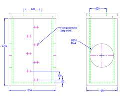 Inspection chamber 1630 x 1070 x 2340