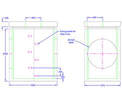 Inspection chamber 1830 x 1375 x 2000
