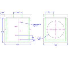 Inspection chamber 1830 x 1675 x 1695