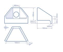 H3C headwall dimensions