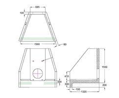 H6C B Headwall dimensions