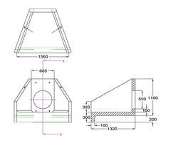 H6C C Headwall dimensions