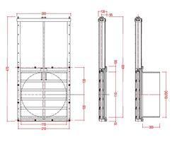 Medium duty 100mm penstock dimensions