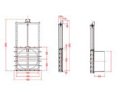 Medium duty 1500mm penstock dimensions