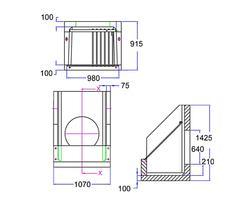 One piece heavy duty silt trap inlet A