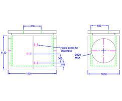 Chieftan inspection chamber 1630 x 1070 x 1120