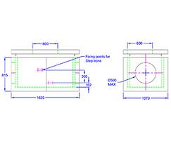 Inspection chamber 1630 x 1070 x 815