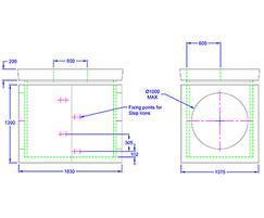 Inspection chamber 1830 x 1375 x 1085