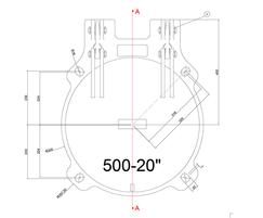 Althon 500mm ductile iron flap valve