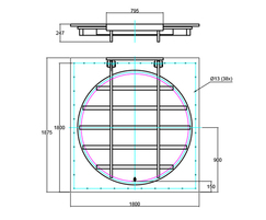 1500mm flap valve line drawing