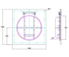 700mm flap valve line drawing