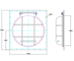 900mm flap valve drawing
