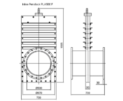 inline penstocks 500