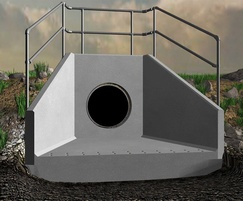 Precast concrete headwall with factory-fitted options