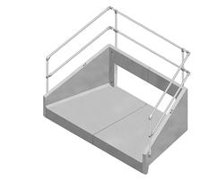 Precast concrete headwall for culverts