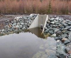 Precast concrete headwalls,  Cronfeydd Gwydir Reservoir