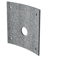 Galvanised steel curved orifice plate