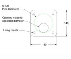 Galvanised steel orifice plates - flat