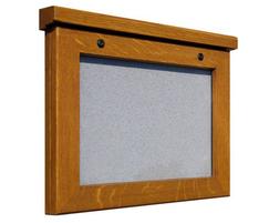 Smallboard A4 landscape oak poster cae