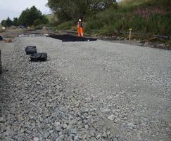 Geoweb for rail load support  Borders Rail, Galashiel