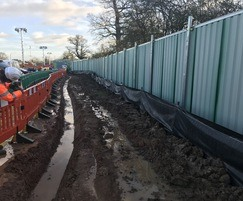 Temporary sediment control fence for construction sites