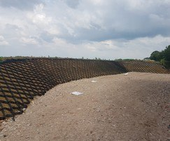 75mm Geoweb & GeoJute 500 for slope stabilisation