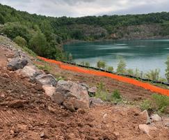 Silt Stop 70 Orange sediment control fence