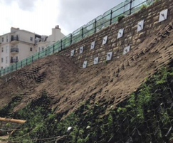 Geoweb solution for Scarborough slope stabilisation
