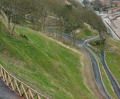 Completed slope stabilisation above Scarborough's Spa