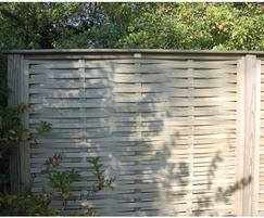 Woven fence panels
