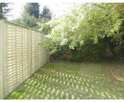 Woven fence panels, rear view