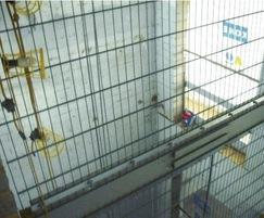 EuroGuard panel detail on lift shaft
