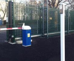 Barbican gate and auto rising barrier with intercom