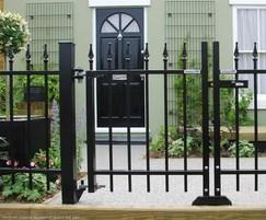 Barbican Imperial® railings and double leaf gate