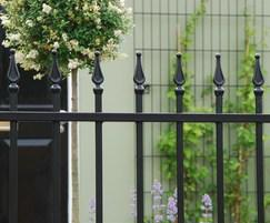 Barbican Imperial® residential railings with finials