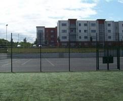 Rebound welded mesh sports fencing