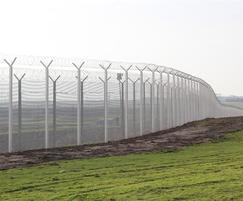 358 high security perimeter fence with 'Y' extension