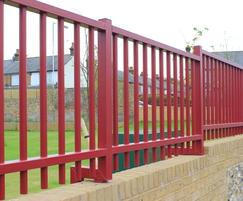 Metal wall Railings on Cranked Posts