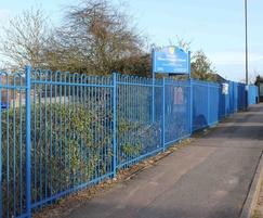 Overview of Blean School Stepped Bow Top Fencing