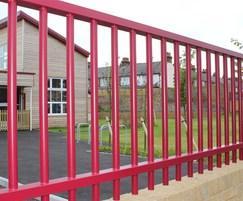Sentry metal wall railings used at pre school