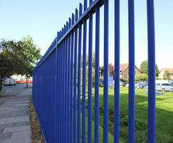 Barbican Imperial railings - RAL 5002 Blue