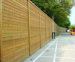 Jakoustic® Reflective fencing reduces noise pollution