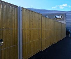 Euroguard Combi fencing secures car showroom