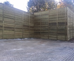 Commercial acoustic fencing
