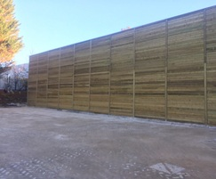 Timber acoustic fencing