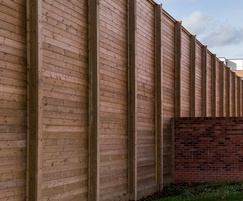 6m High Jakoustic® Reflective with bespoke timber I-bea