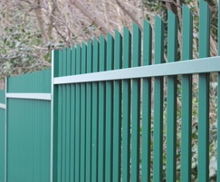Vertical bar metal fencing