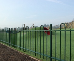 Safe perimeter fencing for play area