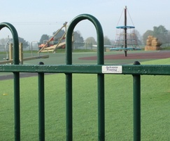 Anti trap bow top fencing design for play area