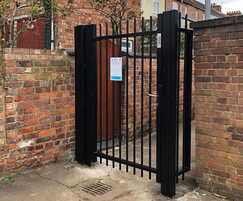 Secure steel alley gate